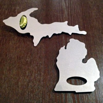 Upper and Lower Michigan Bottle Openers