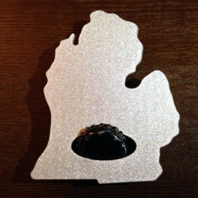 Michigan Bottle Opener Sparkle Finish