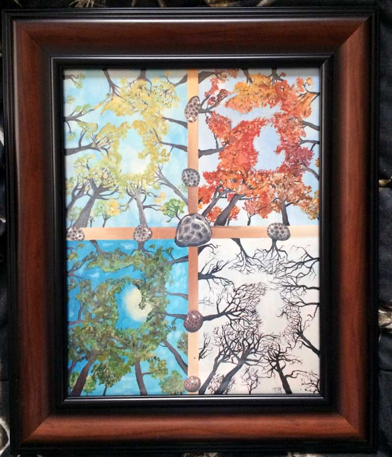 Michigan 4 Seasons Print - Frame Not Included