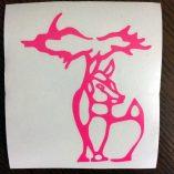 Pink Michigan Deer Decal