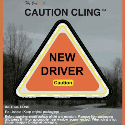 New Driver Caution Cling