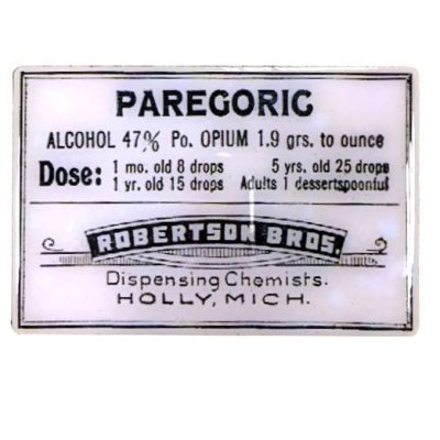 Vintage Pharmacy Paregoric Magnet