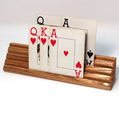 Wood Playing Card Holder