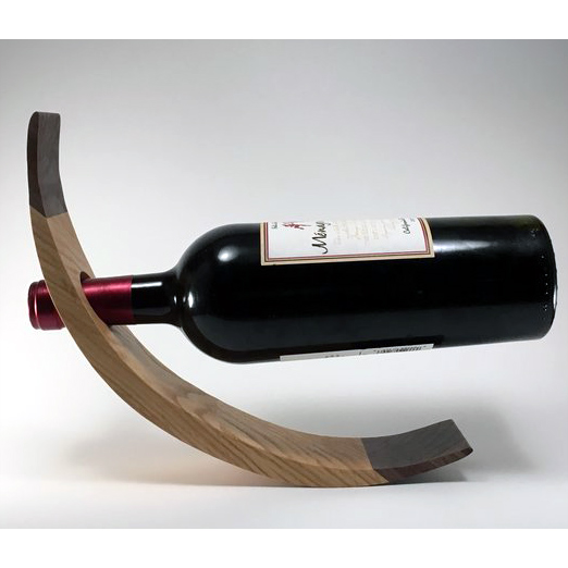 Solid Wood Curved Wine Bottle Holder