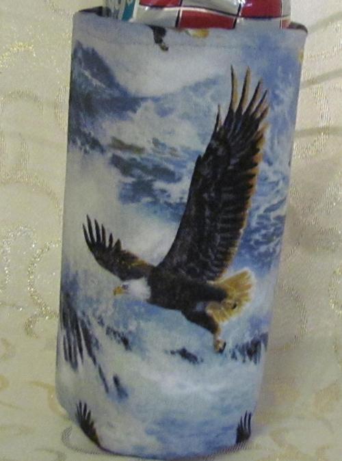 bald eagle-koozie