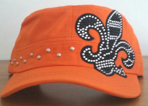 cadet-hat-orange-bling