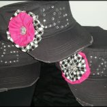 checkered-hat-with-pink