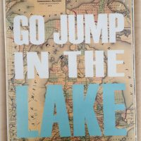Go Jump in the Great Lakes Word Art Sign