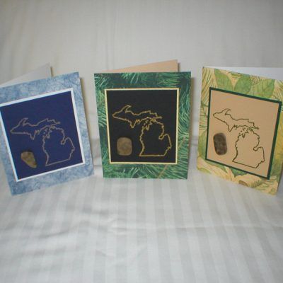 Petoskey Stone Michigan Greeting Cards