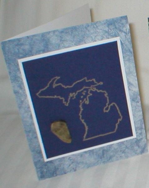 Petoskey stone michigan greeting cards set of 6 greetingcard michigan blue m4hsunfo Images