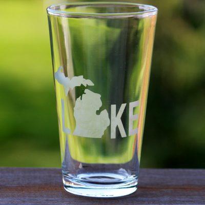 LAKE Michigan Pint Glass