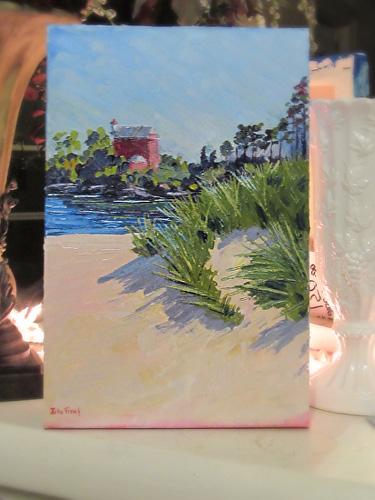 Marquette Harbor Light Oil Painting
