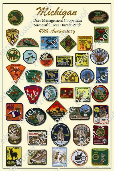 michigan-deer-patch-poster
