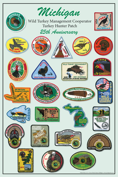 michigan-turkey-patch-poster