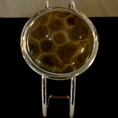 Petoskey Stone Cuff Bracelet