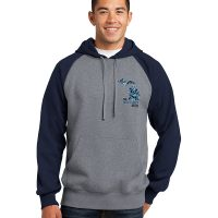 Blue Camo Michigan Hoodie Gray with Black Sleeves