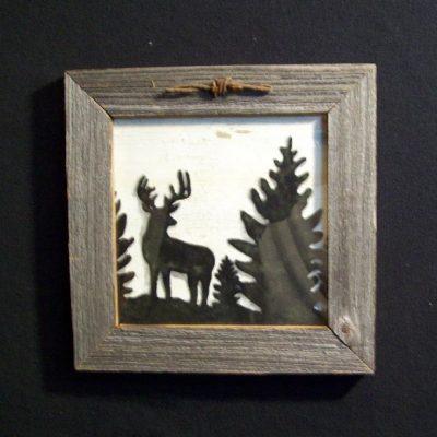 wood-barbed-wire-frame-deer-black-CP-129