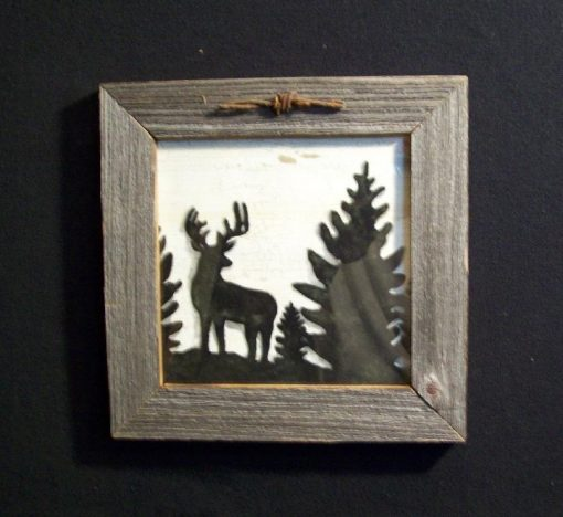 wood-barbed-wire-frame-deer-black-CP-129