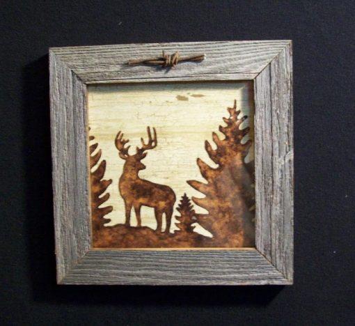 wood-barbed-wire-frame-deer-brown-CP-129