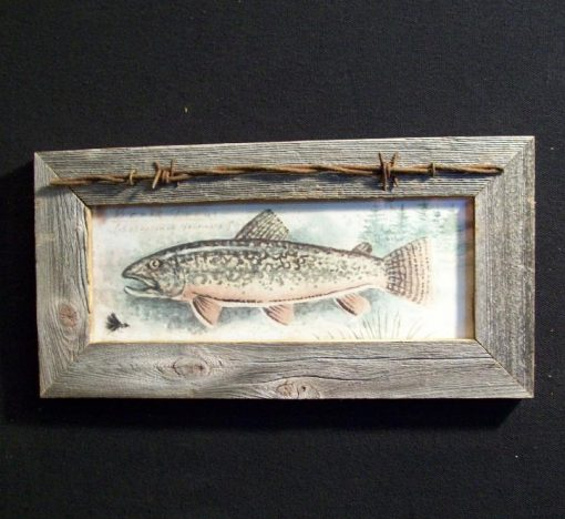 wood-barbed-wire-frame-fish-trout-CP-126