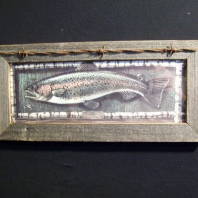 wood-barbed-wire-frame-fish-trout-CP-127