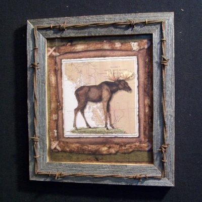 wood-barbed-wire-frame-moose-CP-123