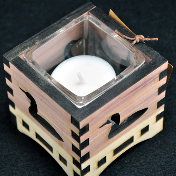 Laser Engraved Wooden Candle Boxes