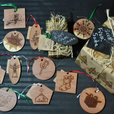 Aromatic Cedar Gift Tags Ornaments