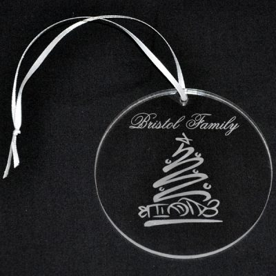 Personalized Whimsical Tree Ornament