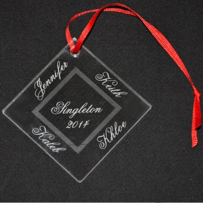 Personalized Engraved Ornament
