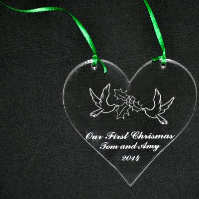 Personalized Two Doves Ornament