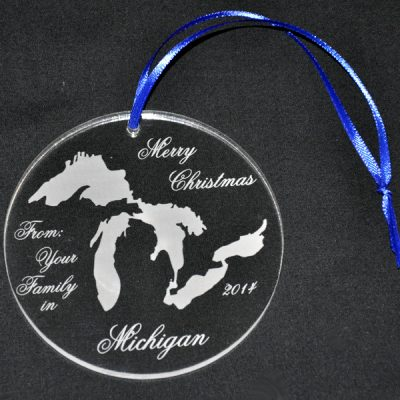 Personalized Great Lakes Ornament