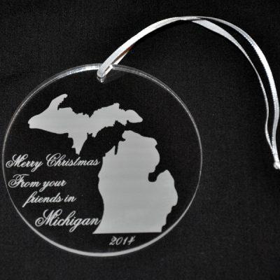 Personalized Michigan Ornament