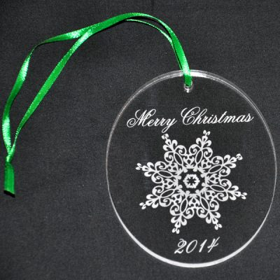 Personalized Lacy Snowflake Ornament