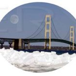 Oval Horizontal Mackinac Bridge