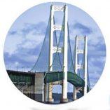 Round Mackinac Bridge
