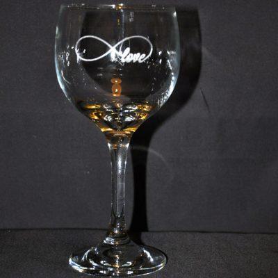 Infinity Love Wine Glass
