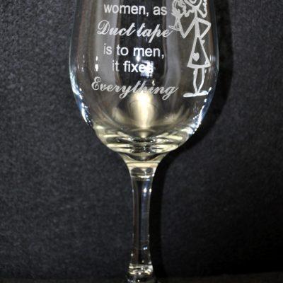 Wine Is To Women Wine Glass