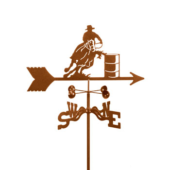 Horse- Barrel Racer Weathervane