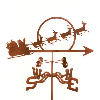 Santa's Sleigh Weather Vane