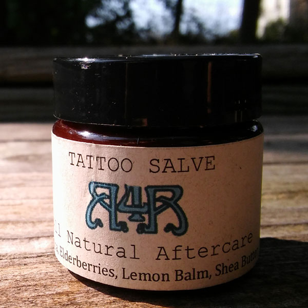 Tattoo Salve with Elderberries and Arnica Oil