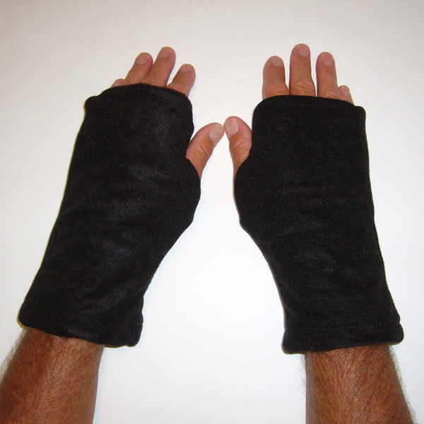 Coffee Reversible Fingerless Gloves