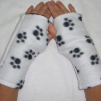 Puppy Paw Dalmatian Reversible Fingerless Gloves Child
