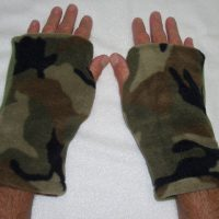 Camo Seasons Reversible Fingerless Gloves
