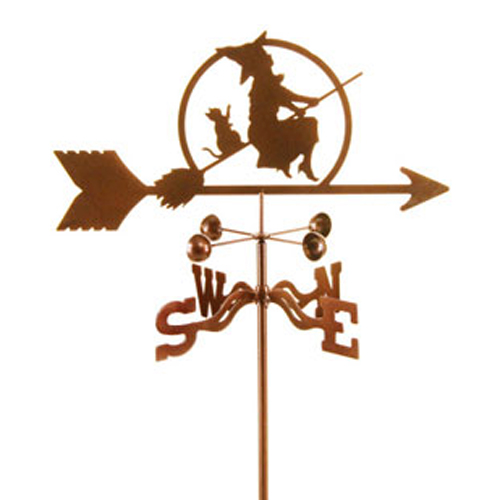 Witch On A Broom Weathervane