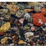 Horizontal Beach Stones Photo Cutting Board