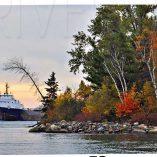 Horizontal Fall Scene Photo Cutting Board