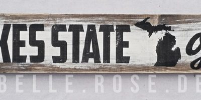 Great Lakes State of Mind Word Art Plank