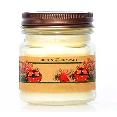 Kristin and Company Holiday Scents 8 oz Mason Jar Candles