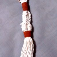 Suede Lace Braided Keychain